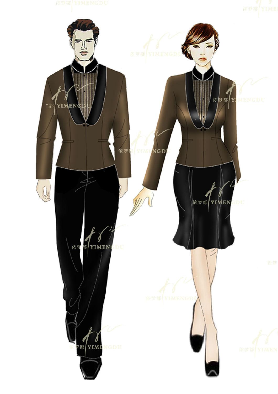 不同的工作服都有哪些设计特点_酒店制服_酒店工作服