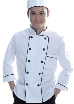 连锁餐饮厨师工作服春秋装