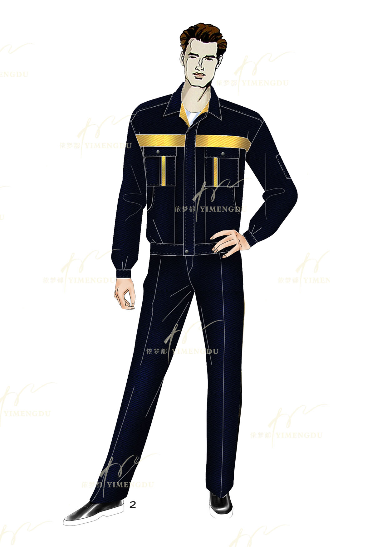 职业装-工人夹克